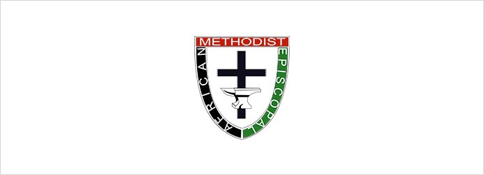 A.M.E. Church Logo on white background