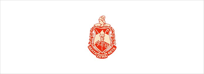 Delta Sigma Theta logo on white background