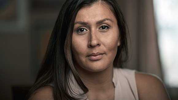 Cancer survivor, Vanessa, close up portrait