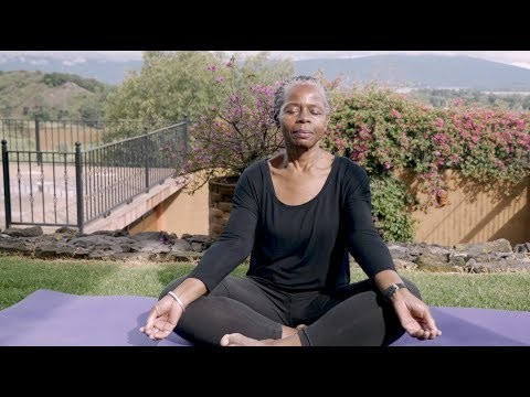 "screenshot from the video, ""Caregiver Series: Relaxation"""